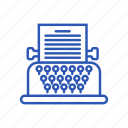device, gadget, item, technology, typewriter icon