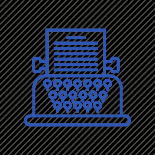 device, gadget, item, technology, typewriter icon