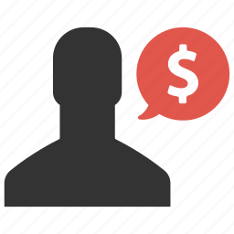 business, dollar, earnings, finance, income, talk icon
