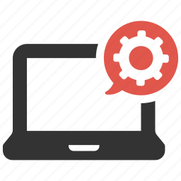 cog, computer, configure, control panel, gear, laptop, settings icon