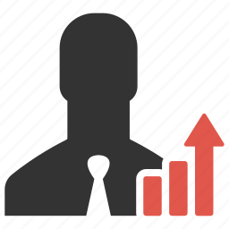 business, businessman, chart, graph, growth, increase, statistics icon