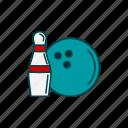 bowling, bowling ball, kegling, skittles icon