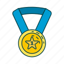 award, golden medal, honour, medal icon