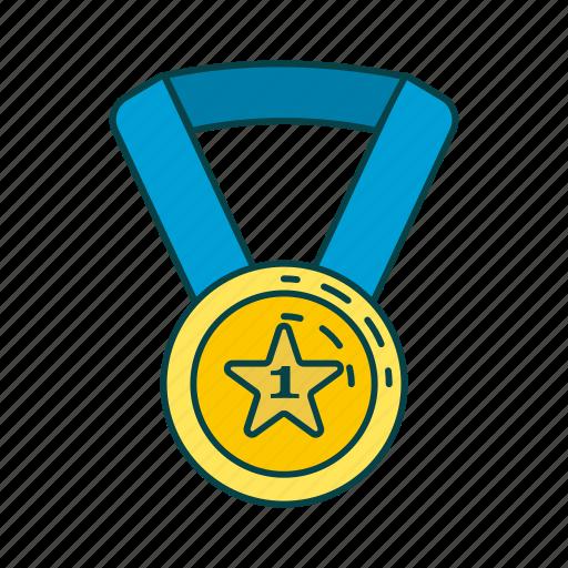 award, golden medal, honour, medal icon