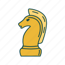 chess, figure, game, horse icon