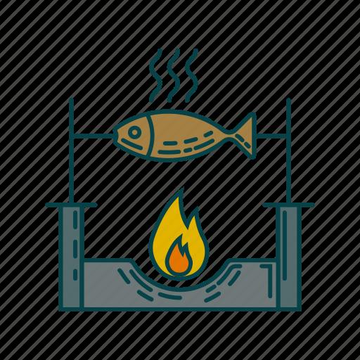 cook, dinner, fish, roast fish icon