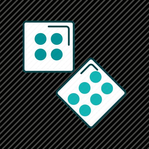 casino, dice, gamble, shoot dice icon