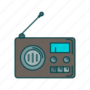 music, radio, retro radio, song icon