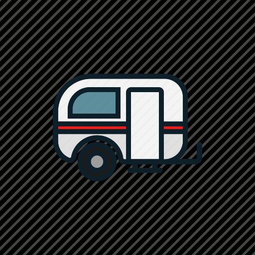 car, road, room, rulote, travel, trip icon, van icon