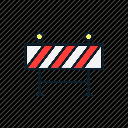 construction, danger, equipment, roadblock icon
