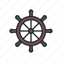 control, helm, rule, ship icon, steering wheel i icon