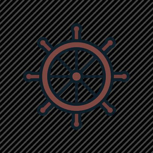 control, helm, rule, ship icon, steering wheel i icon