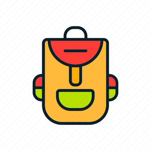 backpack, bag, learning, material, school icon icon