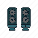 audio, media, music, speakers icon icon
