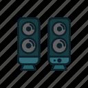 audio, media, music, speakers icon