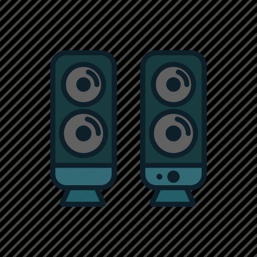 audio, media, music, speakers icon icon