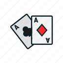 cards, entertainment, gambling, game, gamin icon