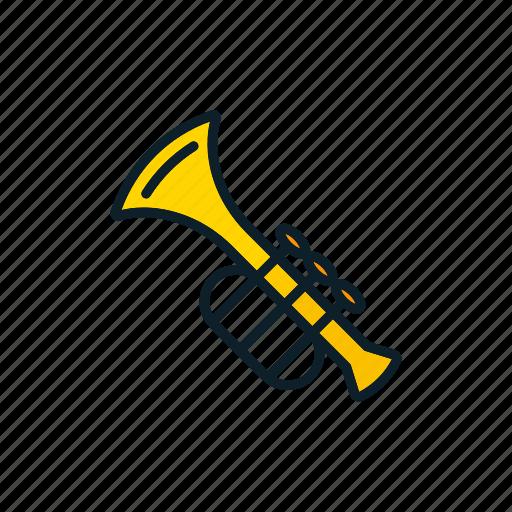 enjoy, instrument, music, musical, trumpet icon icon