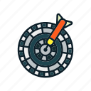 archery arrow, bullseye, dart, dartboard, targ icon