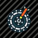 archery arrow, bullseye, dart, dartboard, targ