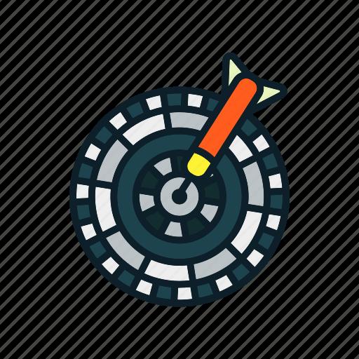 archery arrow, bullseye, dart, dartboard, targ icon