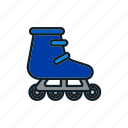 game, play, roller, skates, sport icon icon