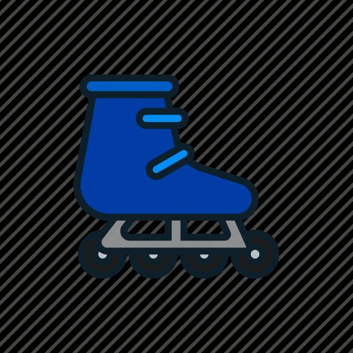 game, play, roller, skates, sport icon icon