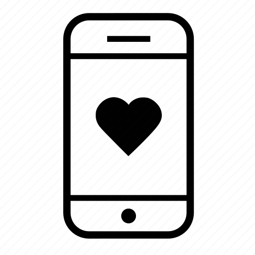 cell phone, favoritemobile, heart, love, mobile, mobile like, mobile phone icon