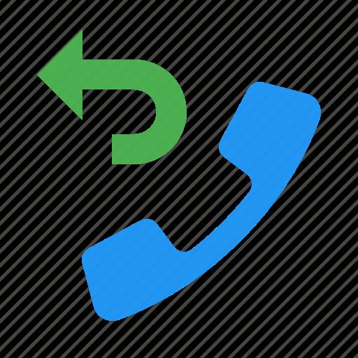 back, call, phone, return, telephone icon