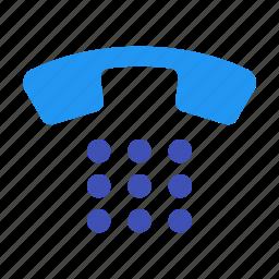 keyboard, keypad, number, numbers, pad, phone icon