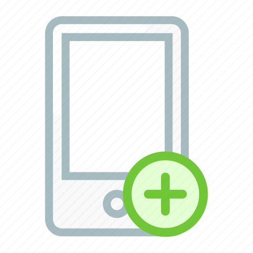 add, connect, device, mobile, phone, smartphone icon