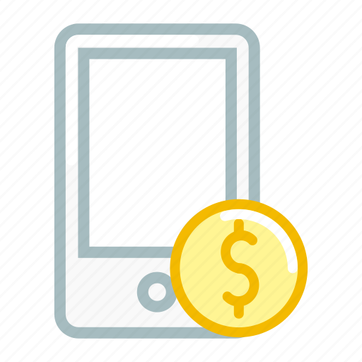 currency, device, dollar, mobile, money, phone, smartphone icon