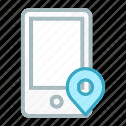 device, locate, location, mobile, navigation, phone, smartphone icon