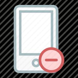 cancel, device, minus, mobile, phone, remove, smartphone icon