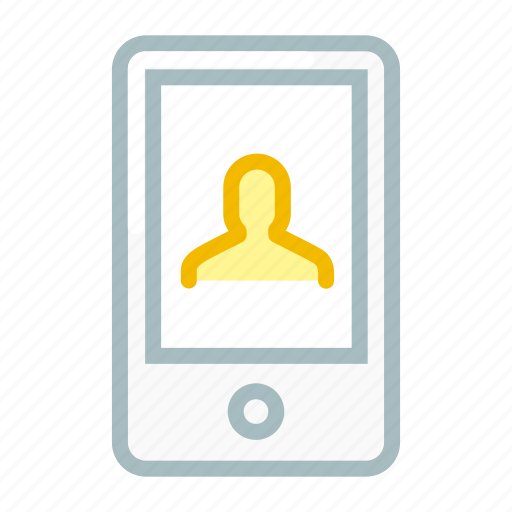 contact, device, mobile, phone, smartphone, user icon
