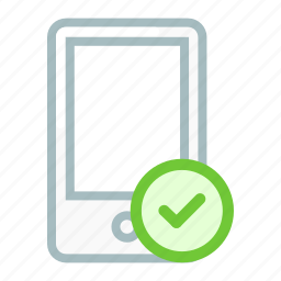 check, device, mobile, phone, smartphone, verify icon