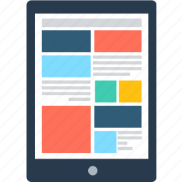 adaptive, application, device, interface, layout, screen, tablet icon