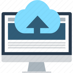backup, cloud, computer, device, hosting, network, upload icon