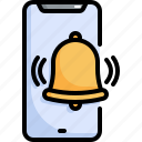aleart, function, application, mobile, app, bell, alert icon