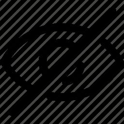 eye, invisible, retina, view, visible icon