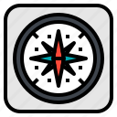 cartography, compass, gps, map, navigator icon