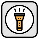 application, flashlight, lamp, light, mobile icon