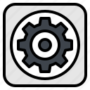 gear, mechanic, option, setting, tool icon