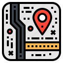 address, gps, location, map, navigator icon