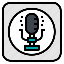 microphone, music, record, sing, song icon