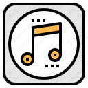 music, note, player, song, sound icon
