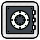 bank, lock, money, safe, security icon