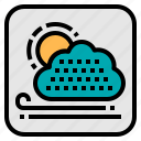 application, cloudy, forecast, sunny, weather icon
