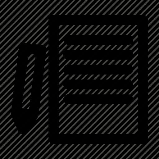 article, handwriting, print, script, writing icon