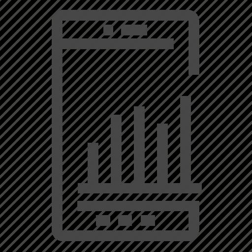 analytics, apps, kpi, mobile, phone icon
